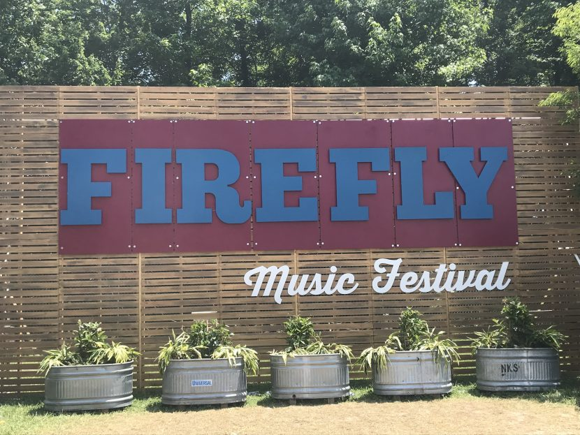 Firefly Music Festival Welcome sign