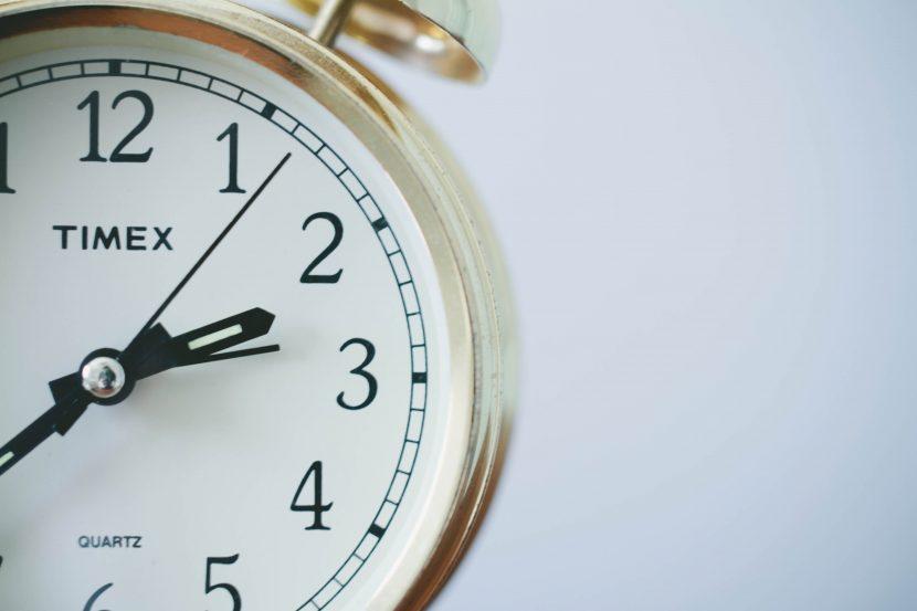 clock can't wait around