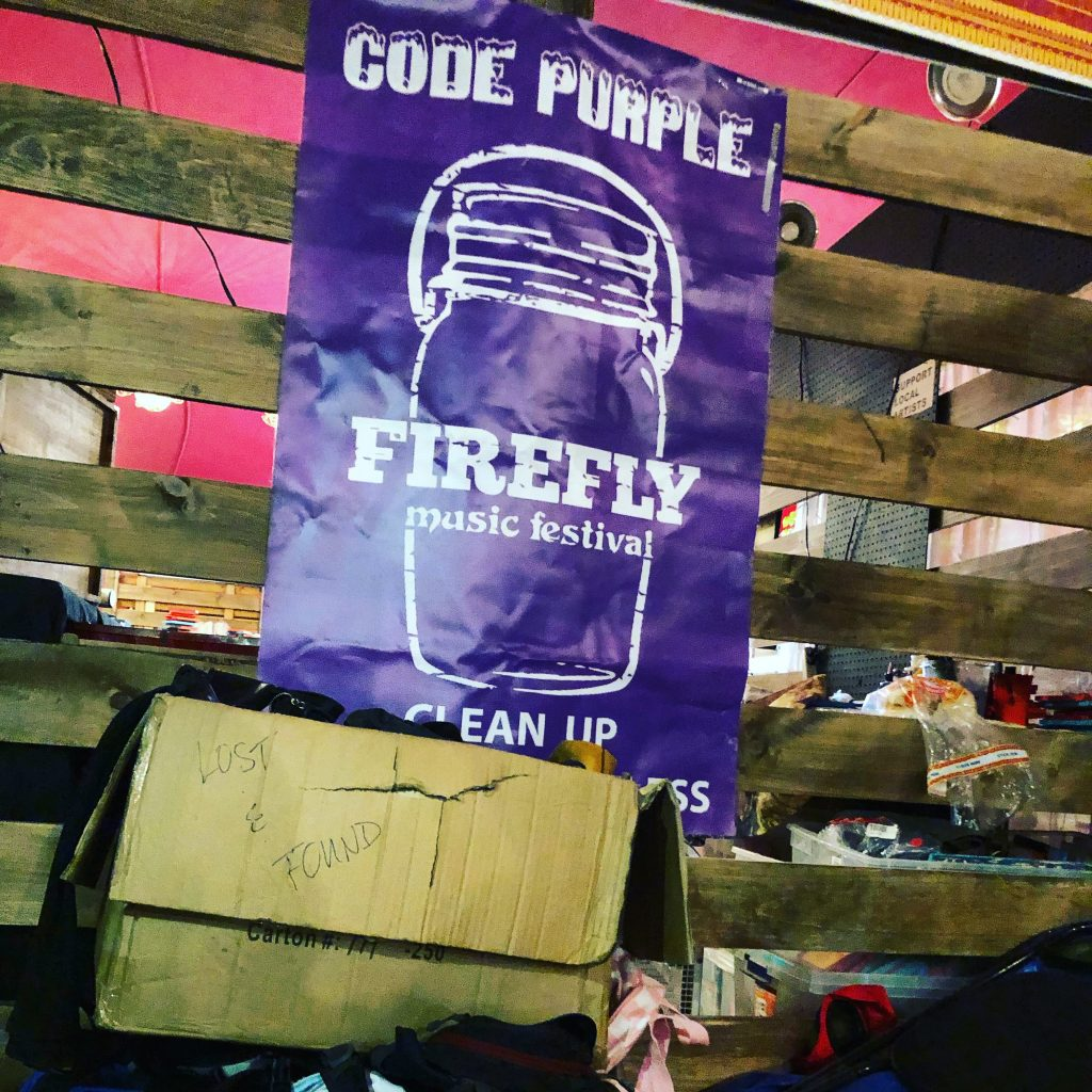 Code Purple at Firefly Music Festival