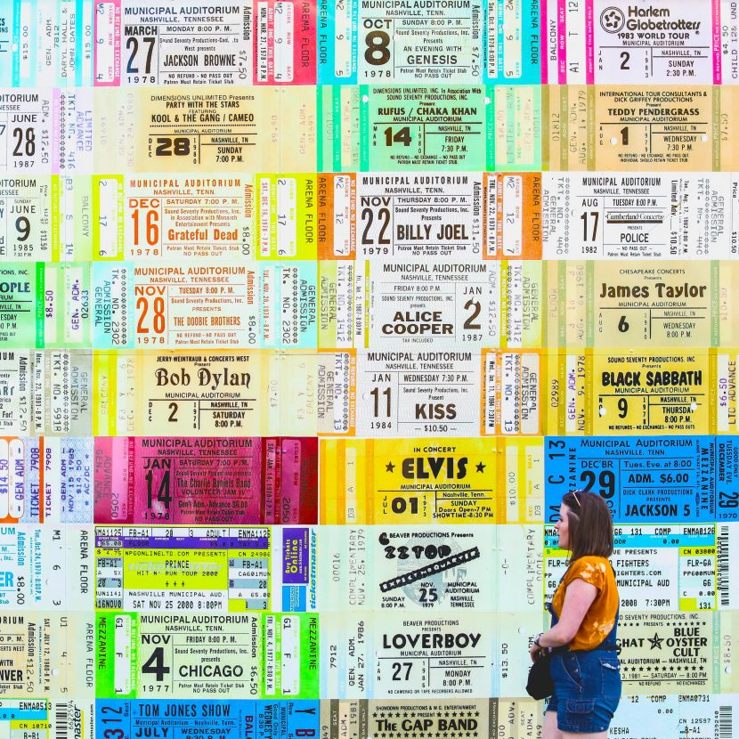 Tickets on the wall