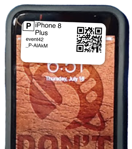 Phone Lost and Found Label