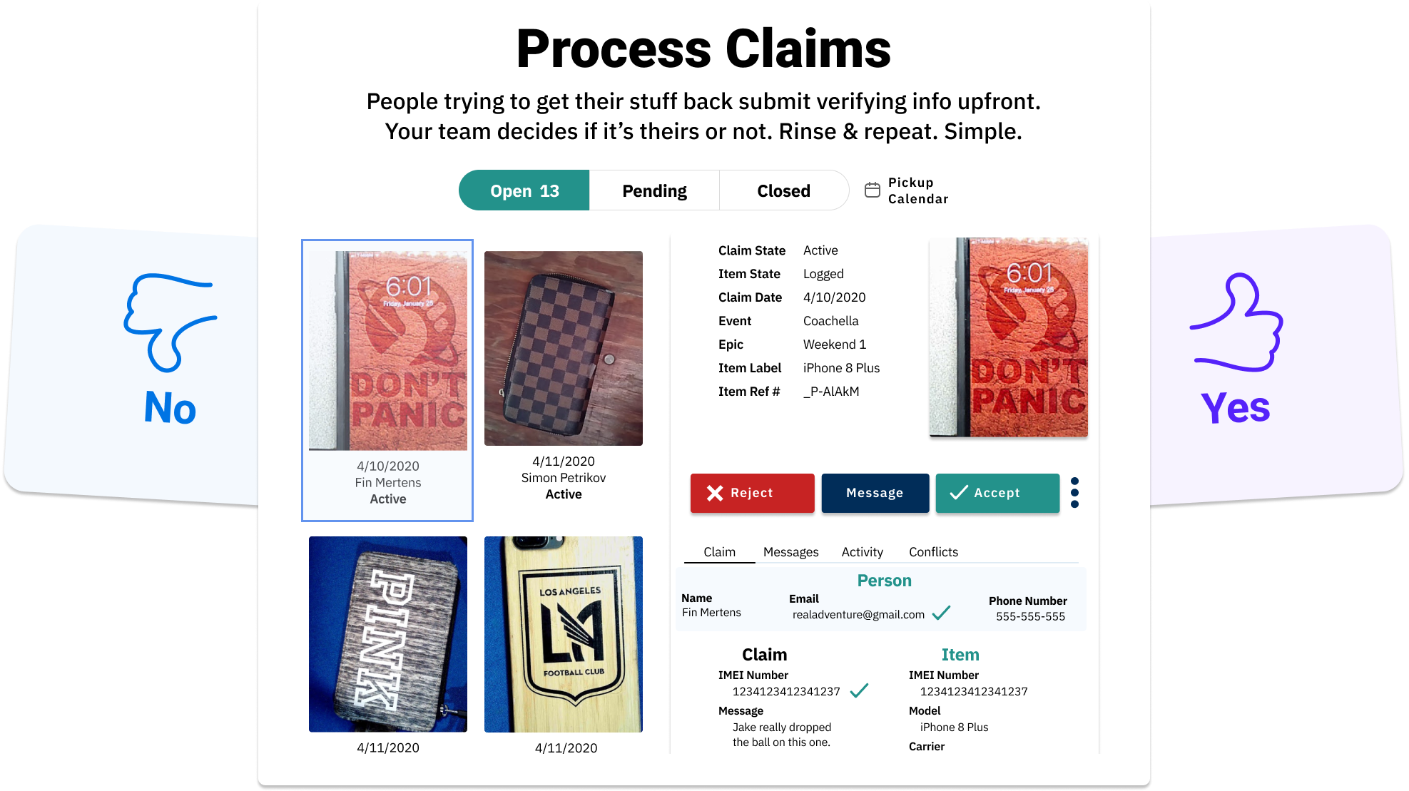 Lost and Found Claims