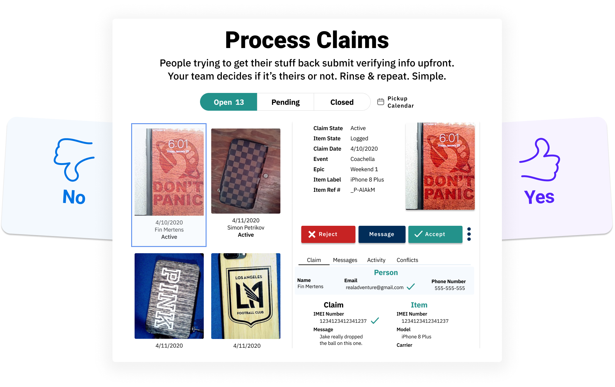 Process Lost and Found Claims